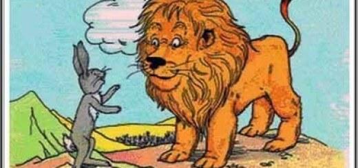 el conejo y el león