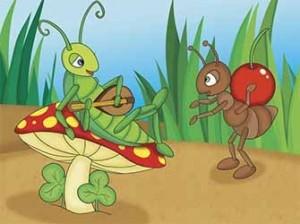 la hormiga y la cigarra
